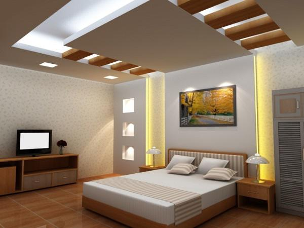 Trần nhà thạch cao phòng ngủ P2