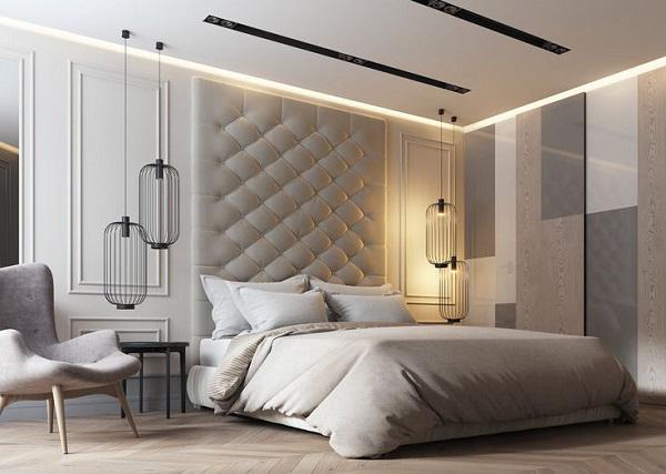 Trần nhà thạch cao phòng ngủ P4