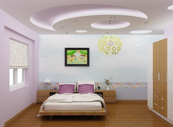 Trần nhà thạch cao phòng ngủ P1