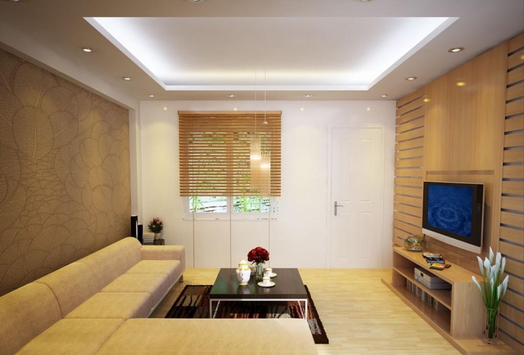 Mẫu trần thạch cao phòng khách đẹp 12