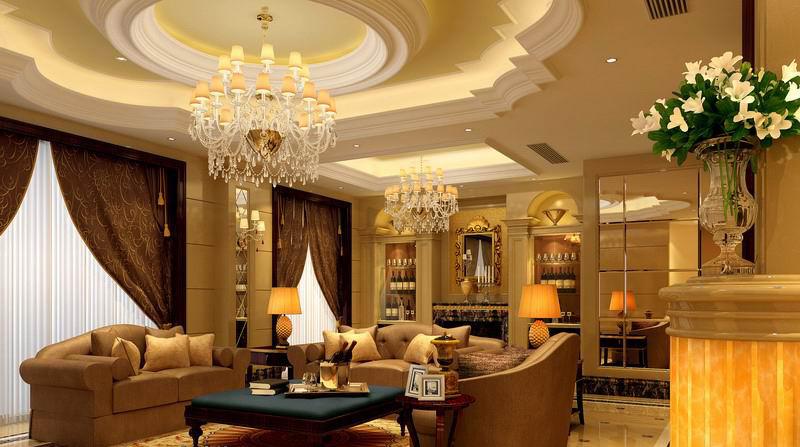Mẫu trần thạch cao phòng khách đẹp 15