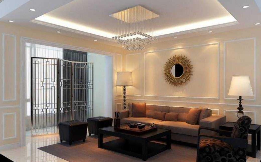Mẫu trần thạch cao phòng khách đẹp 9