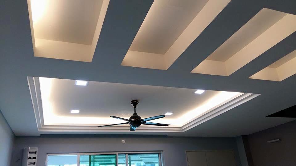 trần thạch cao phòng khách nhà ống 2