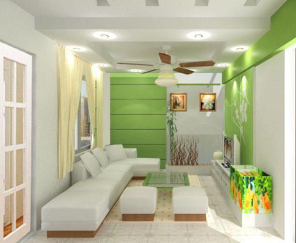 trần thạch cao phòng khách nhà ống 17
