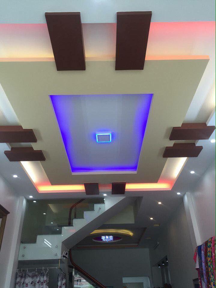 trần thạch cao phòng khách nhà ống 19