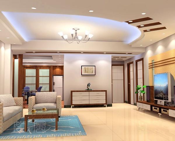 trần thạch cao phòng khách nhà ống 4