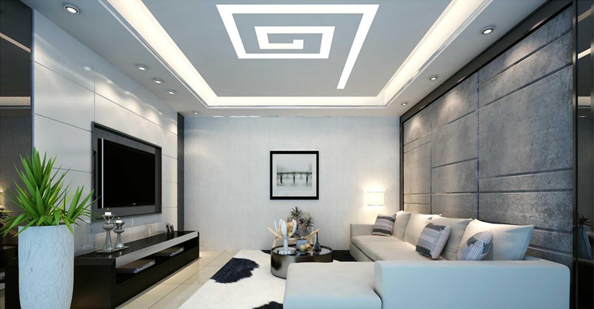 trần thạch cao phòng khách nhà ống 8